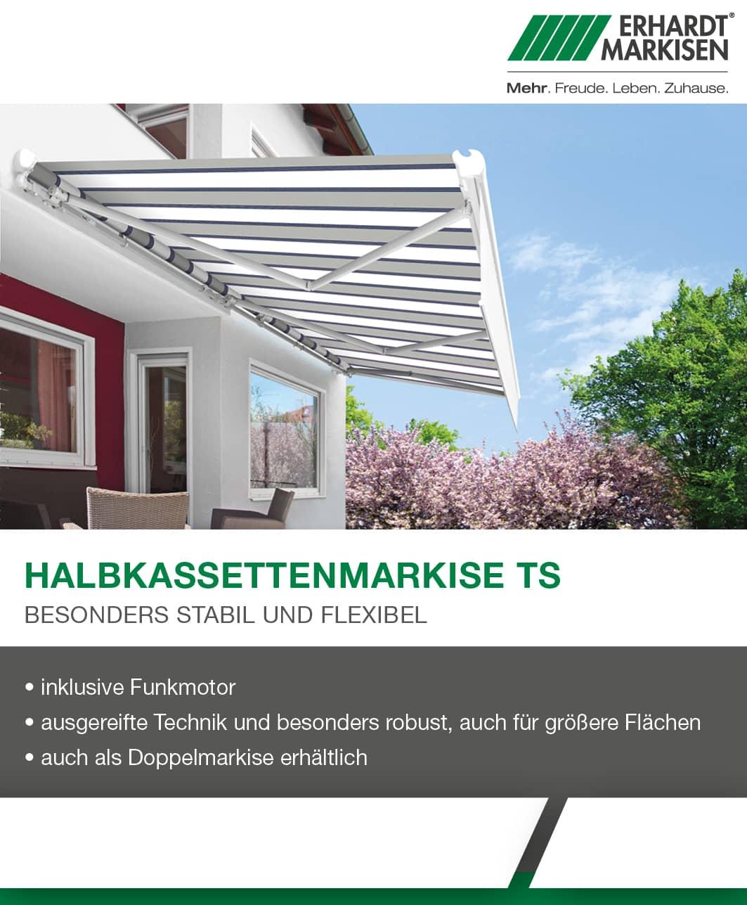 Aktionsangebot Halbkassettenmarkise TS